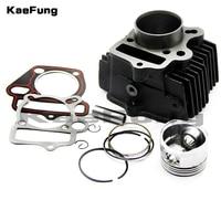 Motorcycle parts LF 125 52.4mm Piston & Rings Cylinder body Gasket Rebuild Kit Fit LIFAN 125 125CC Pit Bike