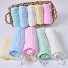 30x30 см, Марлевое хлопковое детское полотенце, платок, квадратное банное муслиновое полотенце, хлопковое детское полотенце для лица, протирающее полотенце