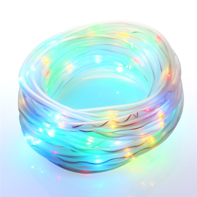 New arrive and fashion 100 LEDs Solar Power Rope Lights, Waterproof Outdoor, Portable, Light Sensor, Decoration for Christmas