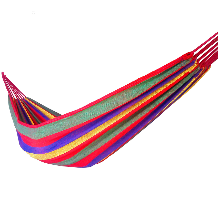 Hot sale Canvas Hammock Double Spreader Bar Outdoor Camping Hammocks Garden Hanging Bed Hammock 120/150kg Large Weight Capacity thicken canvas single camping hammock outdoors durable breathable 280x80cm hammocks like parachute for traveling bushwalking