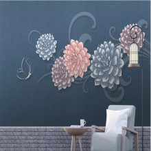 Small fresh, light luxury, modern fashion, beautiful flowers, butterfly, wall decoration painting
