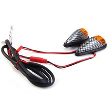 12V 1W Motorcycle Turning Signal Indicator Light Motorbike LED Blinker Carbon Fiber Cornering Lamp – 2Pcs Long Life Span Bright