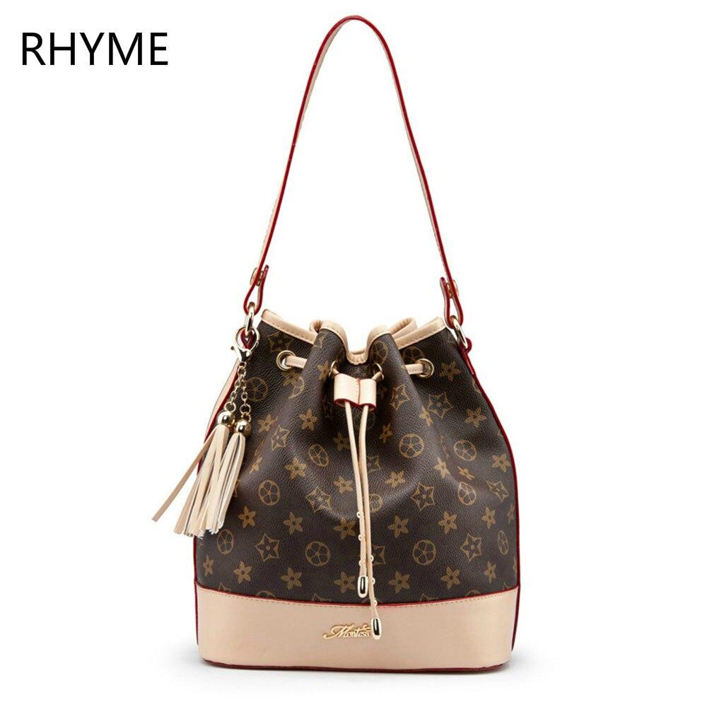 RHYME Mansur Gavriel Bucket Genuine Leather Women Bag Flower Design Handbag Lady Real Cow Leather Shoulder