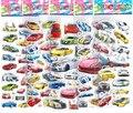 20 unids/lote auto racing del coche famoso juguete en 3D de espuma pegatinas niñas premio fuentes del partido juego decoración regalos de los niños juguetes de los niños