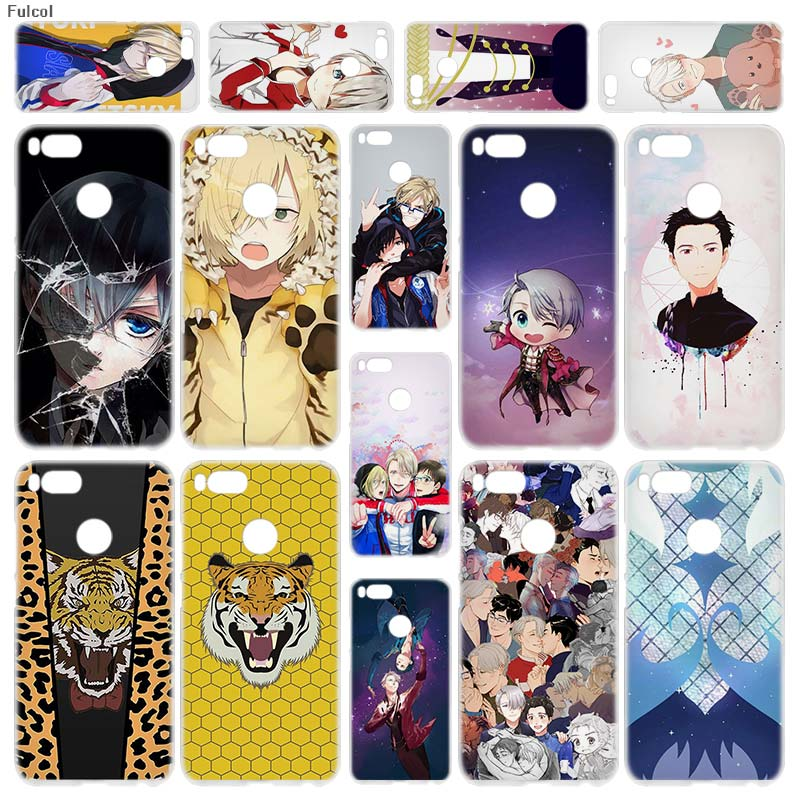 Fulcol Japanese Anime YURI on ICE Transparent Fashion Shell case cover para for Xiaomi Redmi Note 3 4 4X 5 Puls 4A 5A 6A Mi5X A1