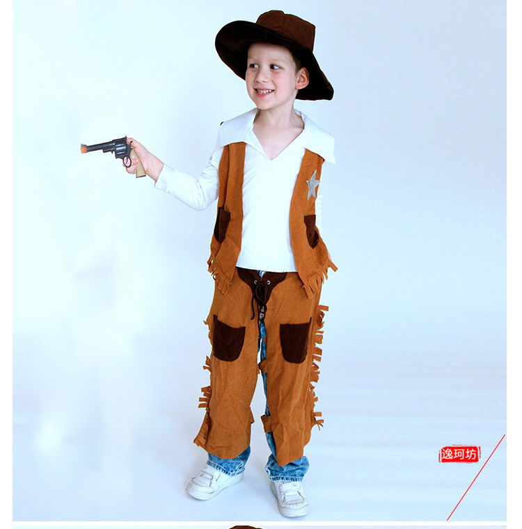 Wild Cowboy Costume Kid Cosplay Halloween costumes for Children Cute Party Cowboy Costume Outfit -in Menu0027s Costumes from Novelty u0026 Special Use on ...  sc 1 st  AliExpress.com & Wild Cowboy Costume Kid Cosplay Halloween costumes for Children Cute ...
