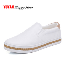 New 2019 High Quality Soft Leather Shoes Women Flat