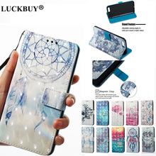 LUCKBUY 3D Printed Ghost Unicorn Flip Wallet Case Coque for Xiaomi Redmi 4X 5X 4A 5A Note PU Leather Back Fundas Capa