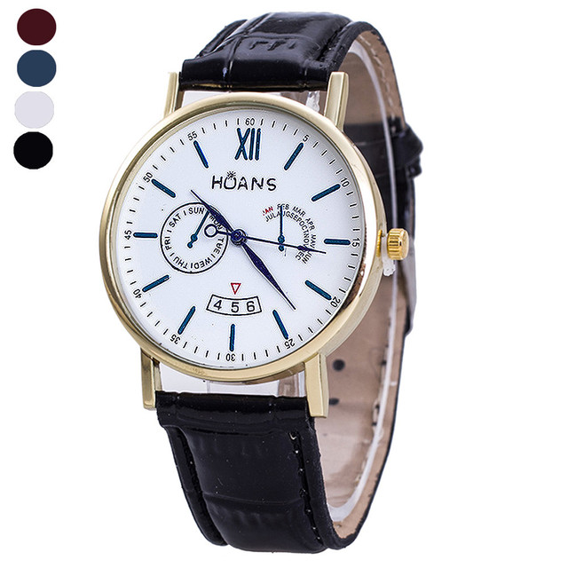 Scolour Fancy Design Rome Article Leather Band Analog Quartz Vogue Wrist Watches Free Shipping#77