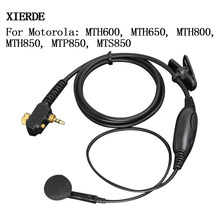 XIERDE For Motorola 1Pin Mic Headset MTP850 MTH850 Radio in-ear Earpiece MTH800 MTP850 MTS850 MTH600 Earplug(China)