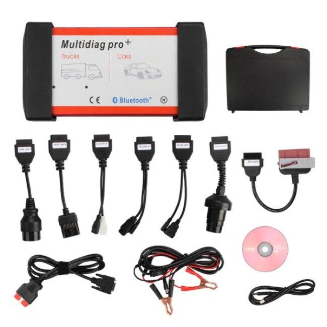Цена за Бесплатная доставка DHL multidiag Pro 2017 бренд качество Multi-Diag Pro + Bluetooth для Автомобили/грузовиков multidiag 4 ГБ карты памяти + Автомобильное Кабели распродажа