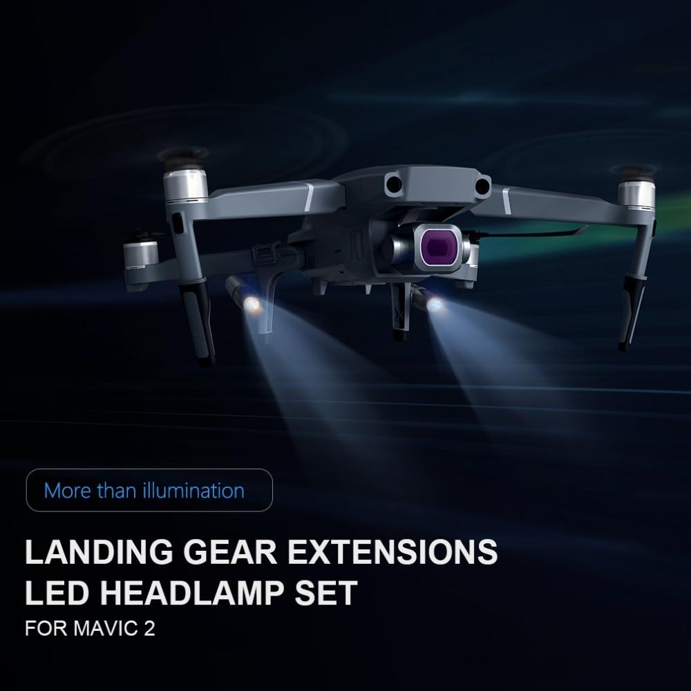 66b42f77b44 PGYTECH Mavic 2 Landing Gear with LED Headlamp Set for DJI Mavic 2 ...