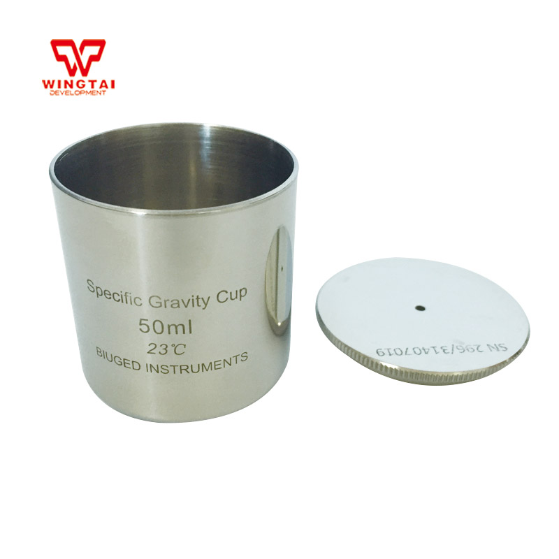 Lab Testing Stainless Steel Density Cup 50ml Capacity Specific Gravity Cup high quality 37ml stainless steel density specific gravity cups with din 53217 iso 2811 and bs 3900 a19 standard