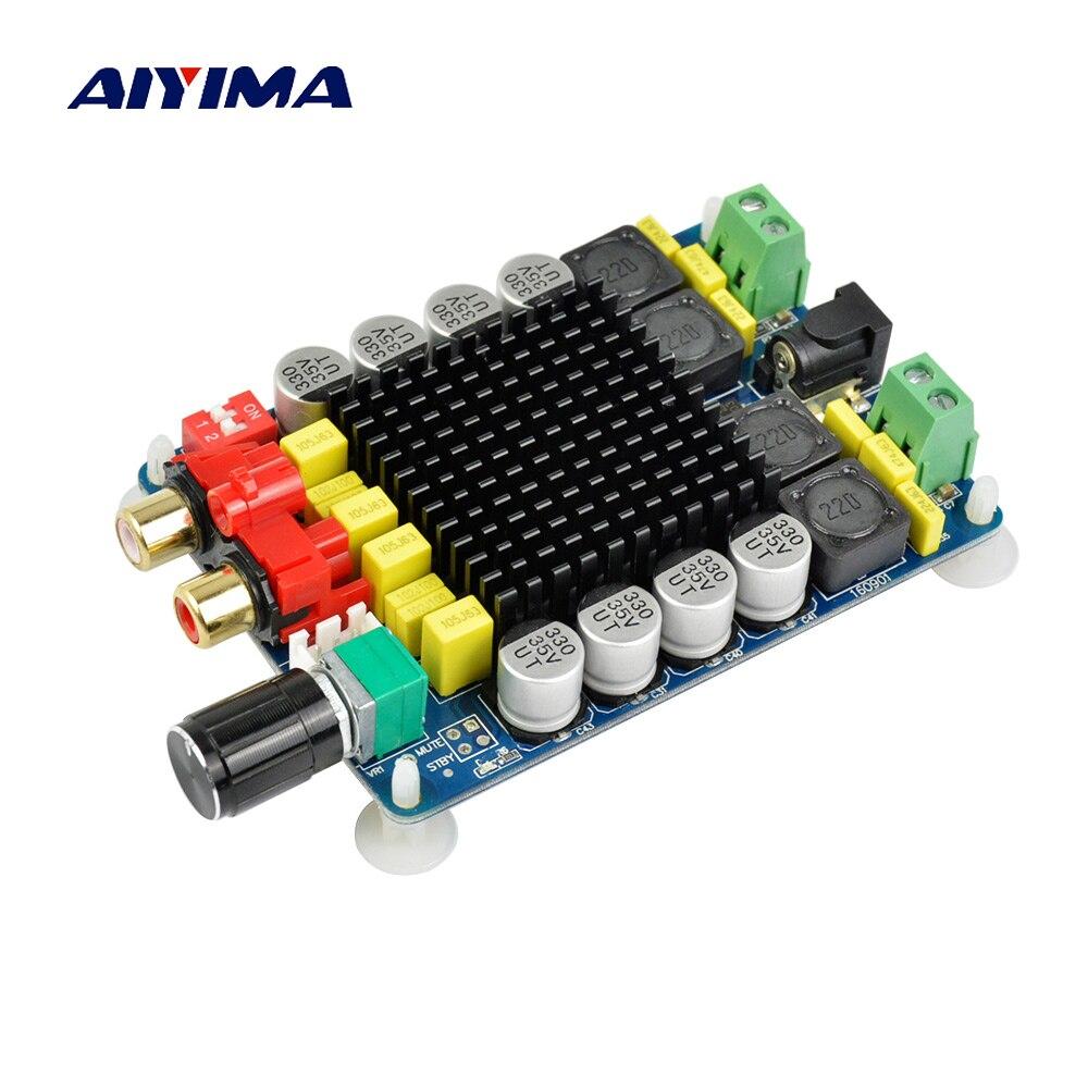 Aiyima TDA7498 Amplificatore Consiglio Dual Channel Digital Stereo Power Amplifier Consiglio 2X100 W Computer Ad Alta Potenza Amplificatori