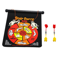 Novelty Gag Toys 15 Inches Magnetic Dart Board Game Adult Party Games Men and Women Double Sides Board with 4 Darts Funny Gift