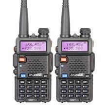 2PCS 100% Original Baofeng UV-5R Two Way Radio with Dual band Display 136-174/400-520Mhz Walkie Talkie