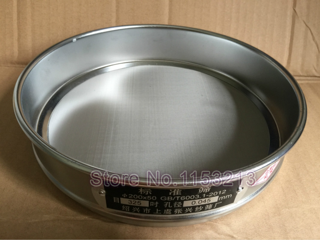 Standard Laboratory Test Sieve Sampling Inspection Pharmacopeia Sieve 304 SUS Filter Mesh Chroming Frame R20cm Aperture 0.045mm|aperture laboratories|mesh sieve|  - title=