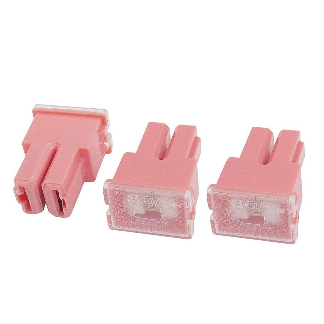 5 Pcs Pink Female Slow Blow PAL Link Fuse box 30A 32V