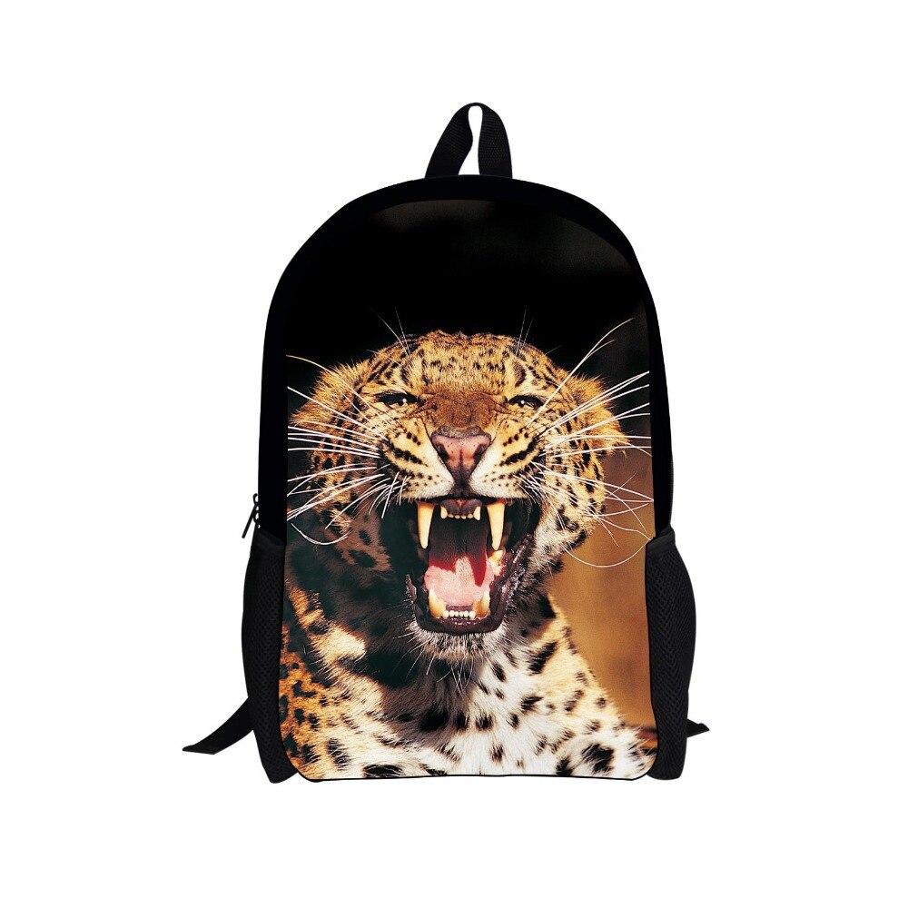 Unique 16 inch children school bag animal dinosaur leopard print school bags for boys cool kids schoolbag mochila infantil