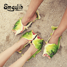 kids slippers girls animals shoes children girls boy Flip Flops Beach Sandalias Fish Personality Strange Creative Slippers