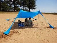 Hot Sea Beach Camping Tent tarp Sunshade inflatable Shelter canopy Sand Anchor Canopy Rain Protect