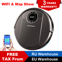 LIECTROUX ZK808 Robot Vacuum Cleaner WiFi App,3000pa Suction, Map Navigation, Smart Memory,UV Lamp,Wet Dry Mop,Brushless Motor