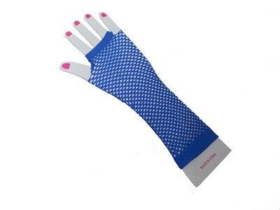 Горячие девушки сексуальные хип-хоп панк сетчатые красные перчатки для ночных клубов - Цвет: Небесно-голубой