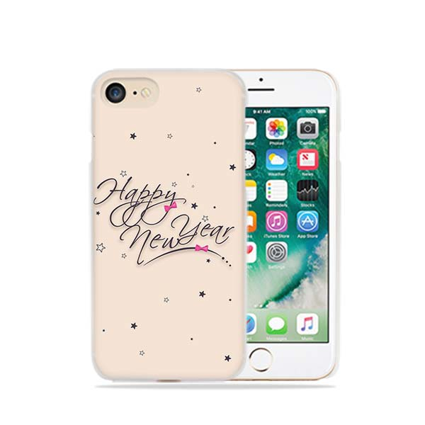 Merry Christmas Happy New Year Fashionable Transparent Case Cover For Iphone Xs Max Xr X 6 6s 7 8 Plus 5 5s Se 5c 4 4s