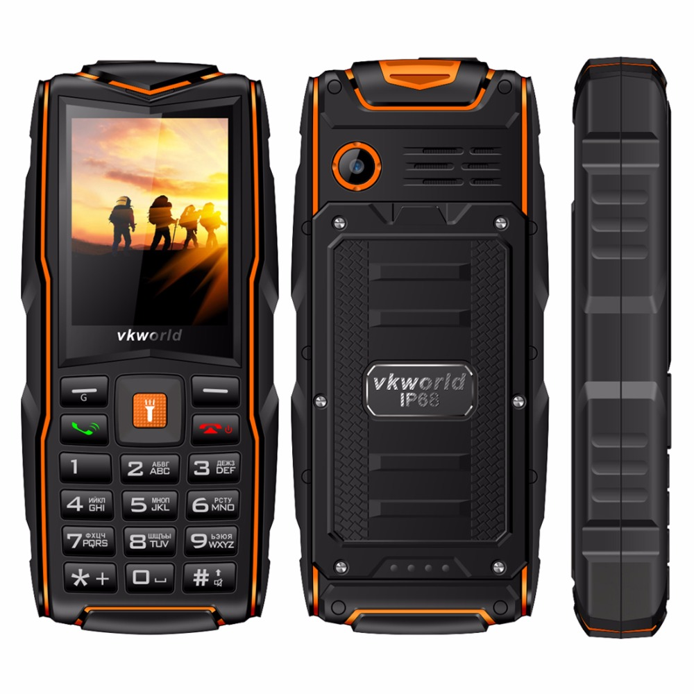 VKWorld Stone New V3 Quadruple Cellphone SC6531CA RAM 64MB ROM 64MB 2.4 inch Tri SIM Card Bluetooth FM Radio Torch 3000mAh