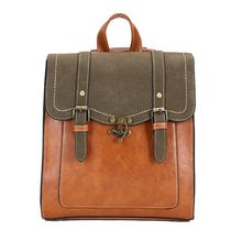 Women Leather Vintage Backpack Shoulder Bag School Travel bag Satchel Rucksack