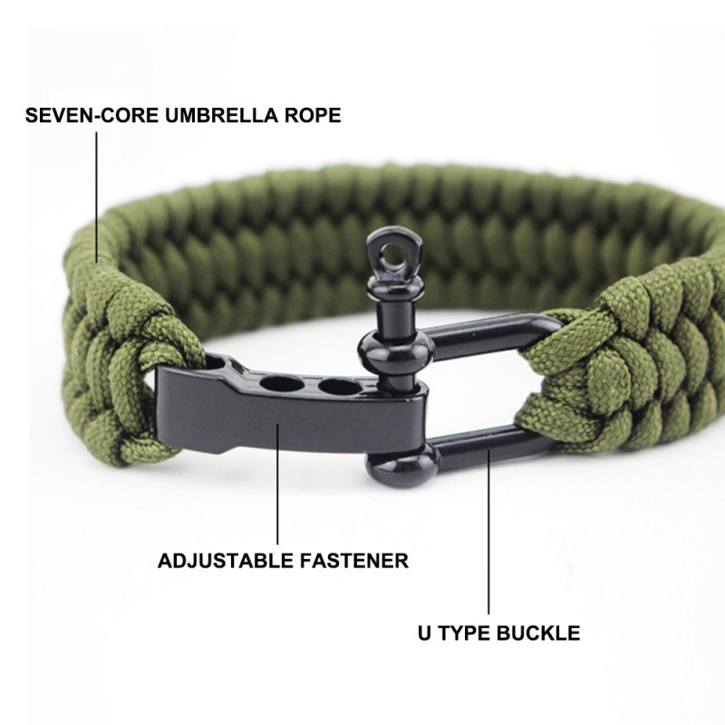 Profi Paracord Armband mit Metallverschluß Survivalarmband Paracord Bracelet