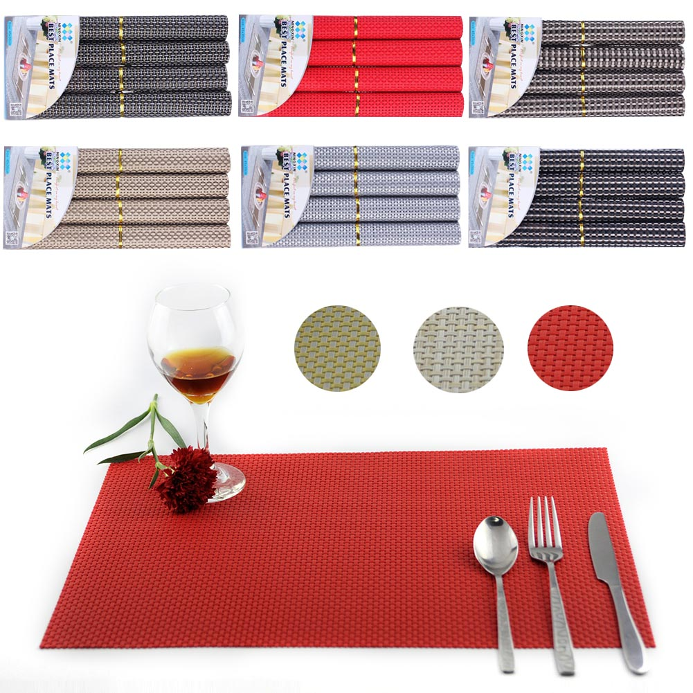 online buy wholesale woven placemats from china woven placemats  -  pcs pvc placemats dining room heat insulation table washable nonslipdecor woven place