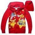 2016 Muchachas del Resorte Sudadera Pokémon Ir Cothing Niños Hoodies Pokemon camiseta Para Niñas niños Sudadera Para Niños DC1024
