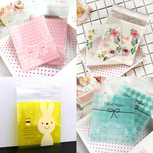 25pc 10*13cm Opp Big Lovely Self-Stick Transparent Packaging Cute Bracelets Earring Necklace Gift Bags for Jewelry Box Package(China)