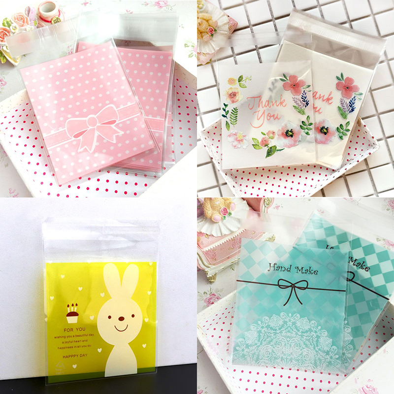25pcs  10*13cm Opp Big Lovely Self-Stick Transparent Packaging Cute Bracelets Earring Necklace Gift Bags For Jewelry Box Package