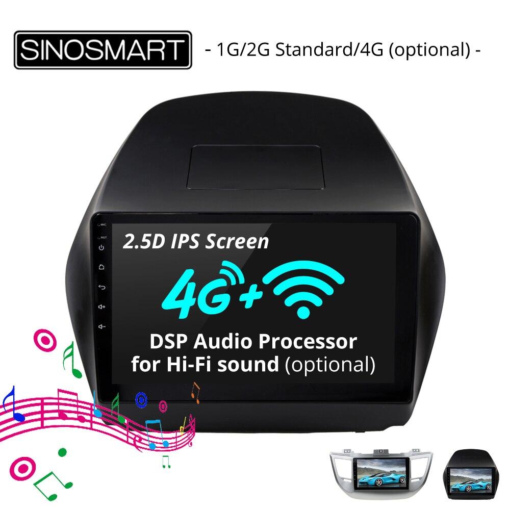SINOSMART 2 5D IPS Screen 1G 2G GPS Navigation Player for Hyundai Tucson IX35 2009 2017
