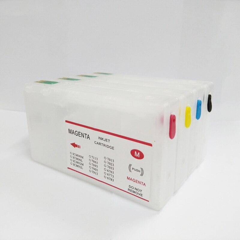 T7011 T7012 T7013 T7014 Cartucho de Tinta Recarregáveis Para Epson WP-4000 WP-4500 WP-4015 WP-4025 WP 4000 4500 4015 4025 4515 4525 4535