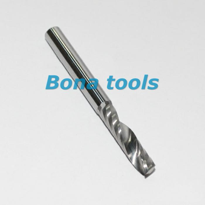 10 pcs/lot 4*12mm Single Flute Sprial Carbide Milling Cutters, CNC Router Bits, Cutting Tools, End Mills for wood, mdf, board