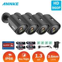 ANNKE 960P TVI Wide Angle Camera Smart IR CUT Email Alert Cameras Outdoor Weatherproof Motion Detection Surveillance CCTV