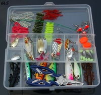 Hot New 101PC/Set Fishing Lure Kit Metal Lure Soft Bait Plastic Lure
