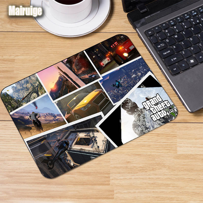 Mairuige Grand Theft Auto V Art Painting Game Mousepads Gaming Mats 22x18 Laptop Mouse Pads GTA5 CSGO Keyboard Notebook Mats