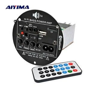 Image 5 - AIYIMA 30W Bluetooth Bảng Mạch Khuếch Đại 12V 220V Mono Loa Siêu Trầm Khuếch Đại Hỗ Trợ TF USB FM 5  10inch Bass DIY