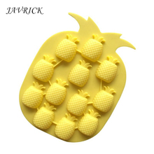 Cute Pineapple Molds Flexible Ice Cube Tray Resin Pendant Silicone Molds Jewelry Tools 3pcs robot building block silicone ice cube tray molds