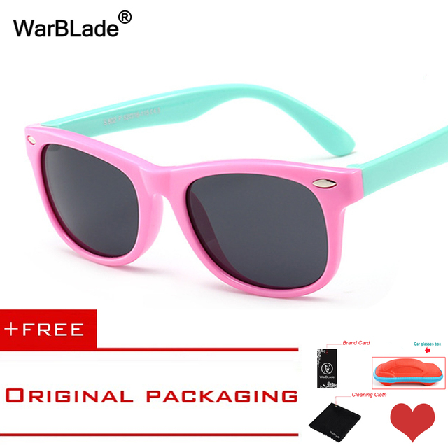 97bc8af064 WarBLade Kids Boys TR90 Unbreakable Polarized Sunglasses Children Girls  Safety Polaroid UV400 Mirror Sun Glasses Sport oculos