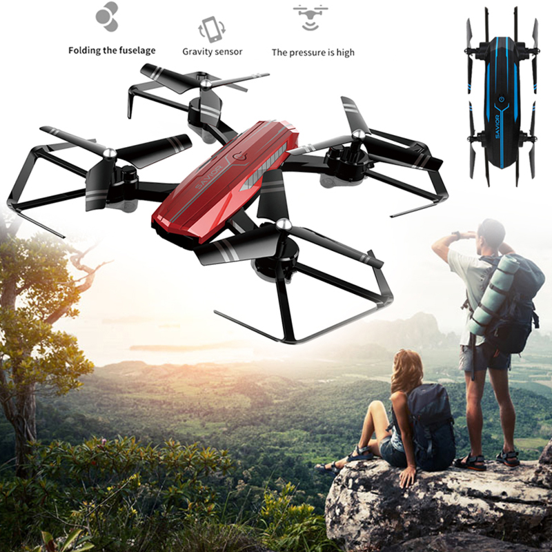 Tout nouveau Drone de aéronef sans pilote (UAV) pliable Intelligent 480 p/720 P HD caméra grand Angle APP WiFi à distance 3D retrousser une clé enlever quadrirotor