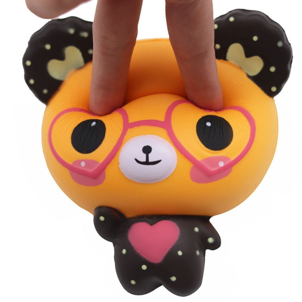 OCDAY Love Glasses Bear Shape Slow Rising Squishy Toy For Stress Relieves Anxiety Pendant Anti-stress Toys For Children Adult