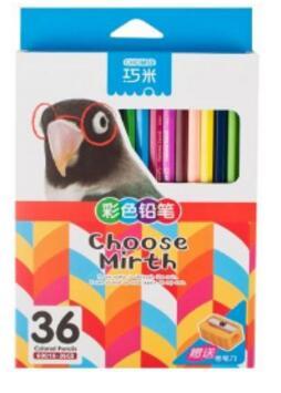 Crayons de bois peints à la main de 36 couleurs professionnels crayons d'aquarelle crayon de couleur pour les fournitures scolaires
