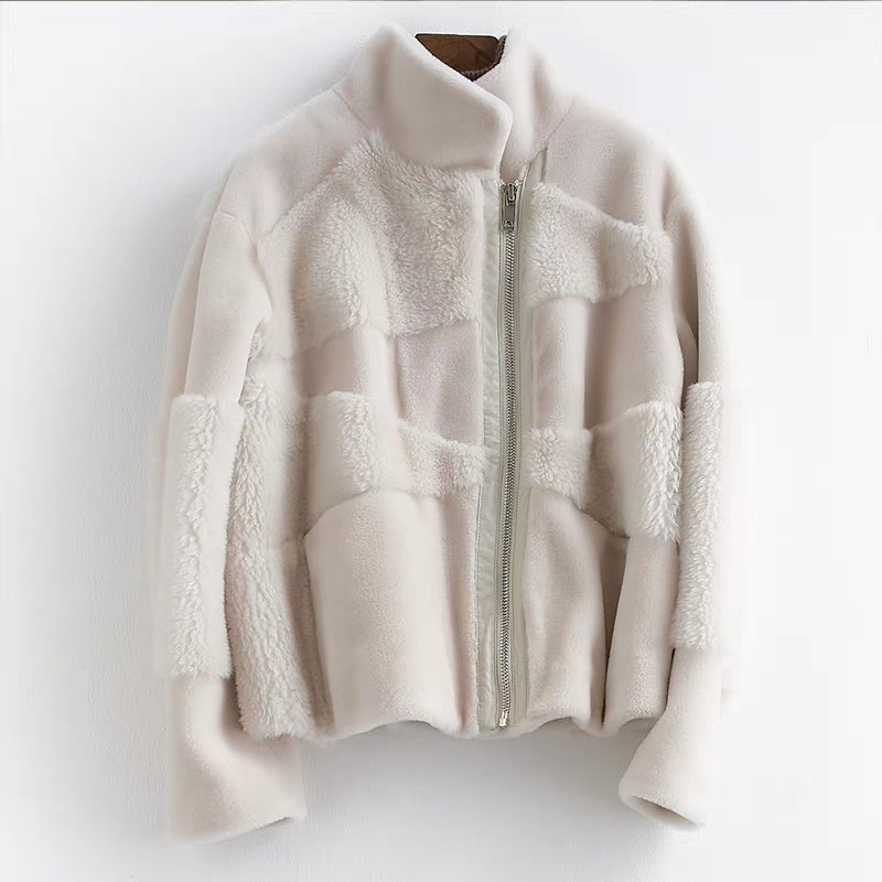 Women's Wool Fur Jacket Winter Natural Lamb Coat Women Clothes 2019 New Arrival Short Genuine Sheepskin Winter Jackets And Coats