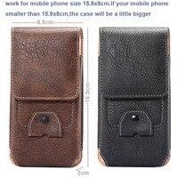 Hombre vertical, clip para el cinturón de cuero sintético al aire libre teléfono móvil case tarjeta de la bolsa para iphone 6 plus/7 plus, zopo velocidad 7 gp/7 Plus