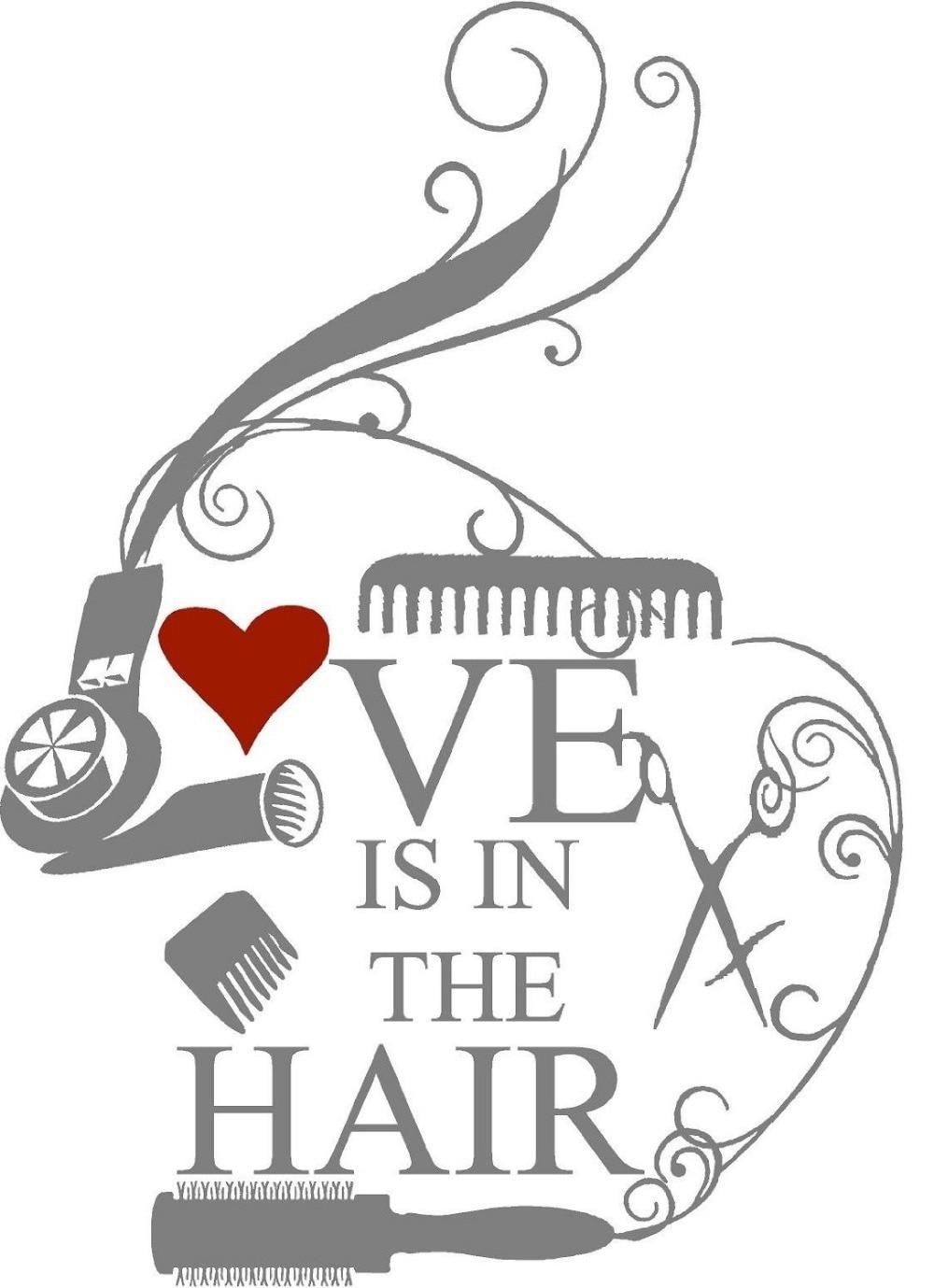 Hair Salon Vinyl Wall Decal Barbershop Scissors Hairdryer ...
